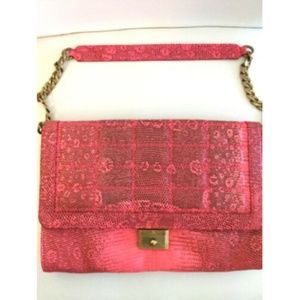 Jimmy Choo Handbag Clutch Lim Edition Pink Lizard